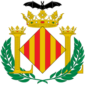 Coat of arms of Valencia with bat